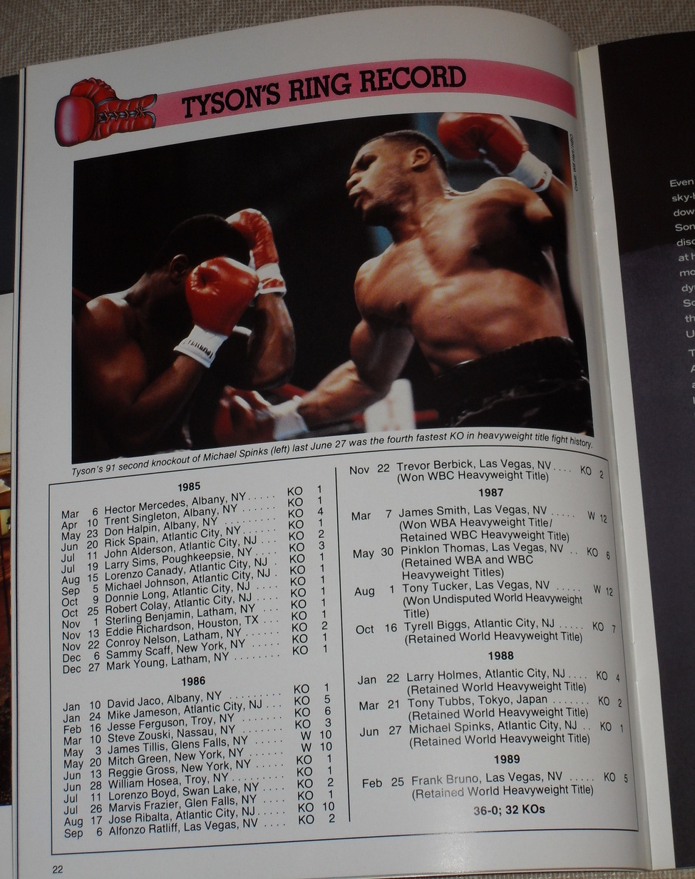Vintage July 21 1989 Mike Tyson Vs Carl The Truth Williams Official Program