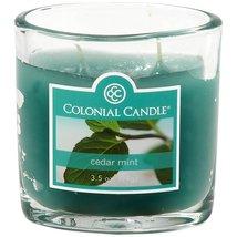 Colonial Candle 3.5 oz. Cedar Mint Jar Candle 2 Wick - $8.00