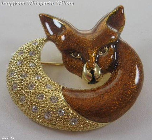Primary image for 14 Karat Gold Plated Fox Fashion Pin