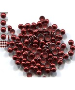DOME Smooth Nailheads 3mm  Hot Fix  RED 144 PC  1 gross - $3.88