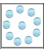 DREAM Rhinestones Frost BABY BLUE 20ss 5mm HotFix 10pc - $5.99