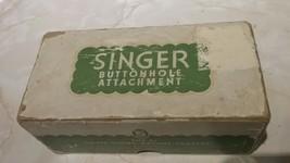 Vintage Singer Lock Stitch buttonholer attachment with box - $14.95