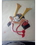 Japanese Fabric Art. Samurai Head Gear. - $30.00