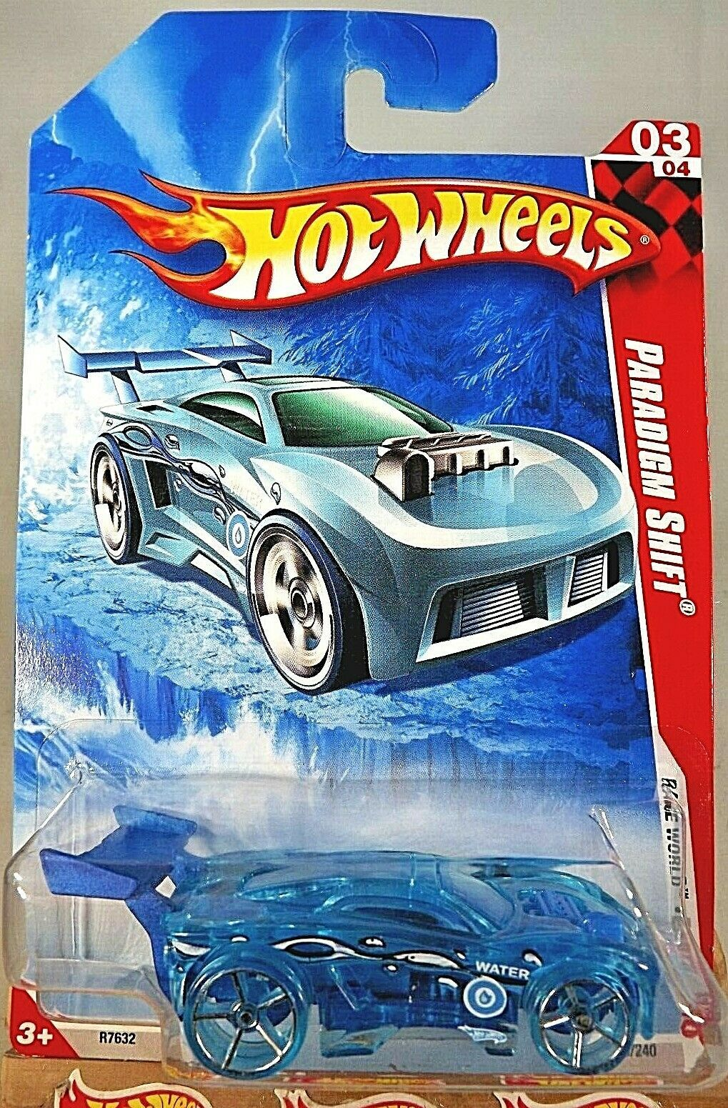 Primary image for 2010 Hot Wheels #203 Race World-Earth 3/4 PARADIGM SHIFT Blue w/Trans Blue OH5Sp
