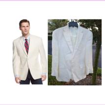 $295 Lauren Ralph Lauren Solid Linen Sport Coat, Off White, 46 Reg - $198.52