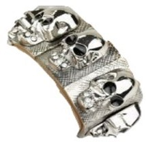 Fashion Wide Skull Stretch Bracelet  - $18.00