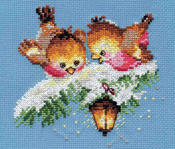 Cross Stitch Kit Hand Embroidery Animals Birds Winter - $17.90
