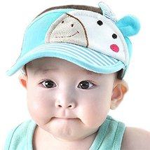 Baby Sun Protection Hat Infant Cap Toddler Without Top 9-36Months(Light Blue)