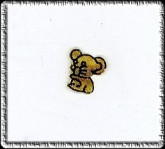 Elegant COPPER  MOUSE   Nail Top Charm Jewelry - $3.59