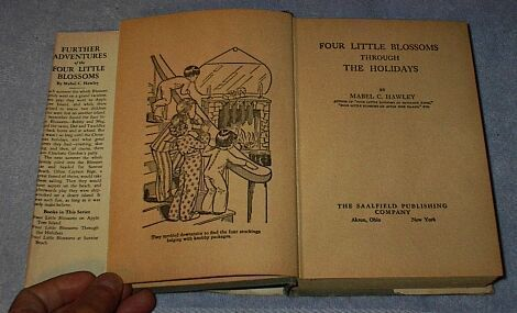 Four Little Bloosoms Through the Holidays 1922 Mabel Hawley Book