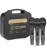 Stagg SDMP15-3 - Set of 3 Dynamic Handheld Vocal Microphones w/Case and ... - £30.30 GBP