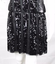 Express women's dress sequin sleeveless black party dress size M image 7