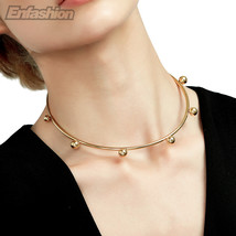Enfashion Circle Ball Chokers Necklaces Pendants Gold Color Necklace Sta... - $21.12