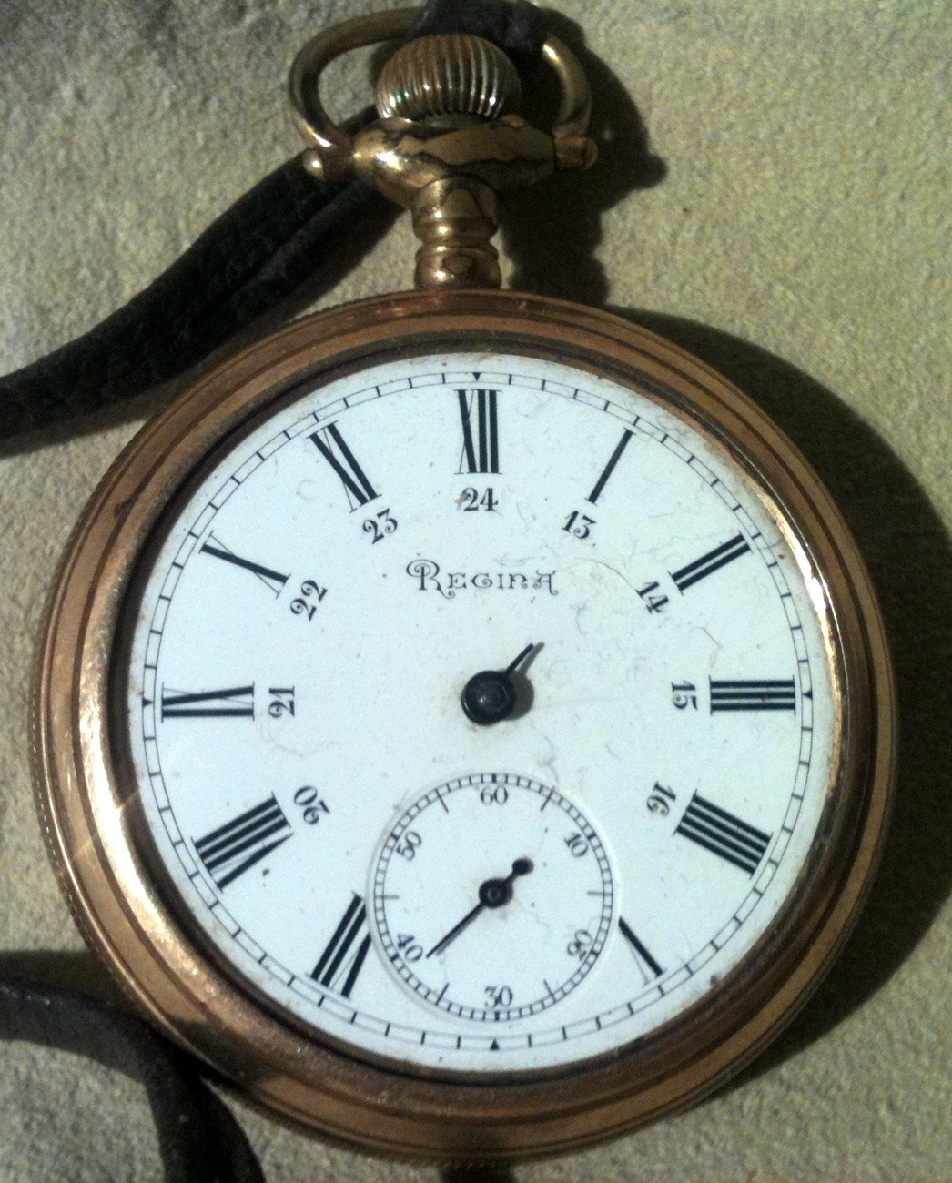 Antique Regina Pocket Watch for Parts or Repair