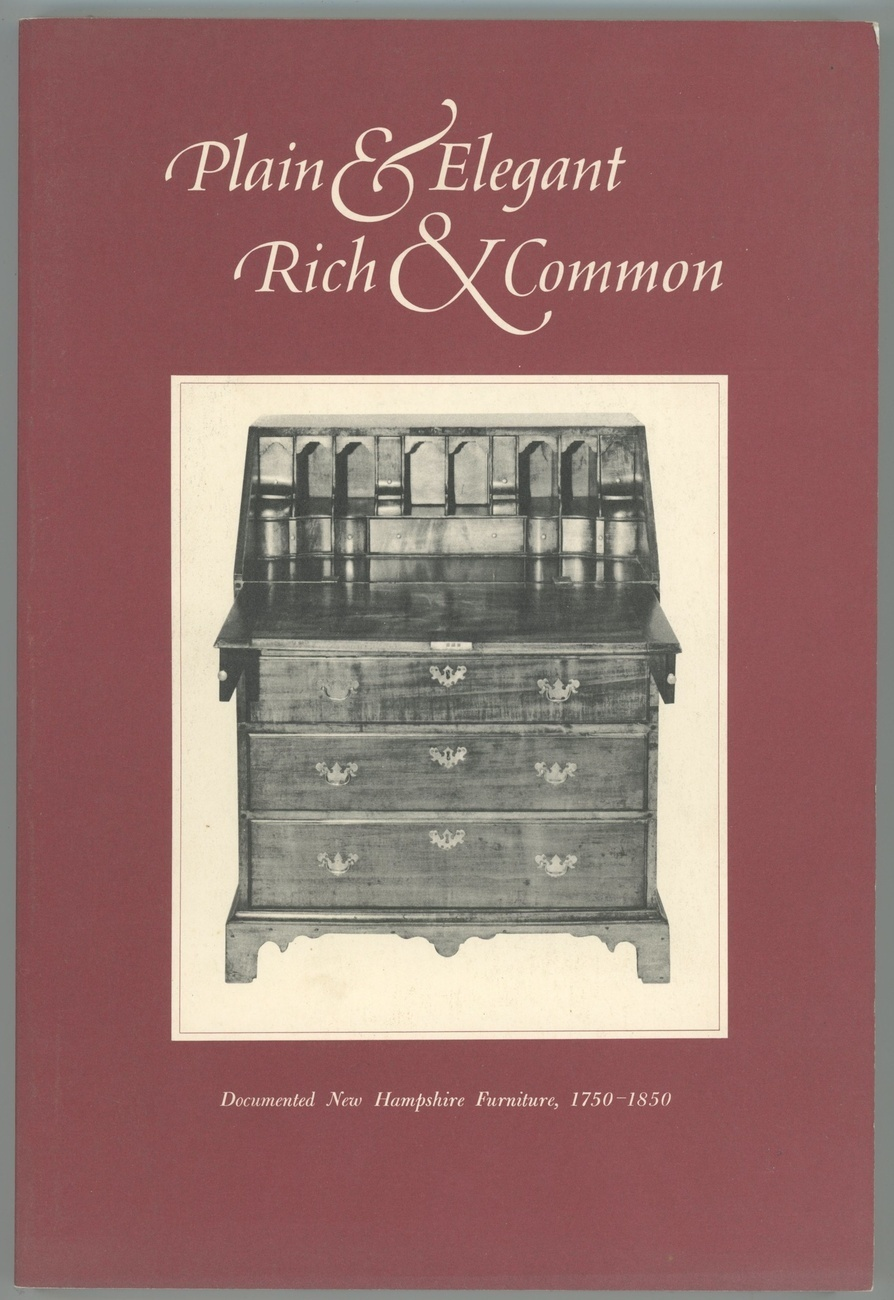 Plain elegant rich common new hampshire furniture book antique collecting nonfiction - Vintage pieces of furniture old times elegance ...