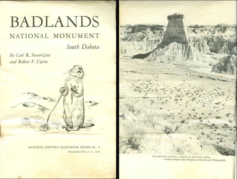 1954 BADLANDS National Monument Handbook