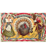 A Pilgrims Thanksgiving Day Vintage 1910 Post Card - $6.00