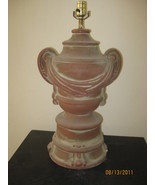 Terracotta Draped Urn lamp - $295.00