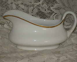 Homer Laughlin Gravy Boat - Cream with Gold- Genesee-USA - $8.00