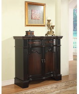 Powell 'Black' & 'Cherry' Fluted Pilaster 2-Door Cabinet - $729.00