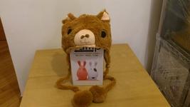 Cute Kawaii Anime Animal Hat Rave Beanie Cap Furry Plush Cosplay Brown l... - €7,97 EUR