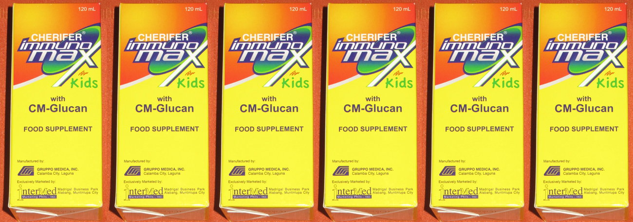 6 CHERIFER Immunomax for Kids Syrup Height Growth Vitamins with CM Glucan 720ml