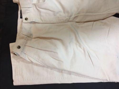 Dockers Men White Casual Pants Size 34,32 Classic Fit Bin79#20