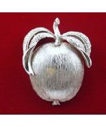 Sarah Coventry Adam's Delight Brooch Pin Silvertone 1950s - $24.00