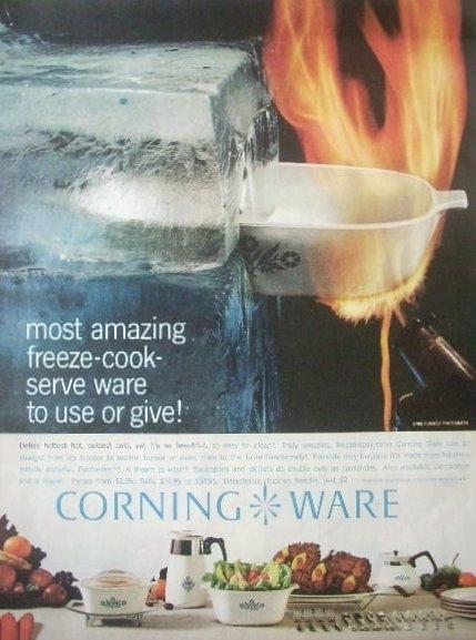 Corning Ware Rosemarie A-1-B  1 Qt Casserole Pyroceram USA
