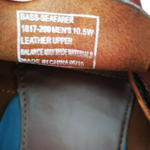 Bass Seafarer Brown Boat Shoes Leather 10.5 Wide