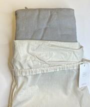 Restoration Hardware Garment-Dyed Linen Duvet Cover Full/Queen Fog NEW $259 - $219.99