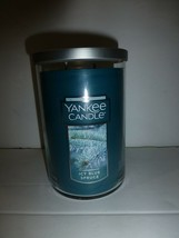ICY BLUE SPRUCE Yankee Candle 2 Wick Tumbler Candle New 22 oz - $28.70