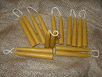 MINI ORGANIC beeswax taper Candles ONE pair