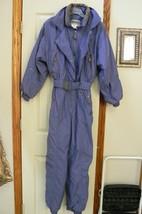Edelweiss Women's Ski Suit Blue Tan Velvet Trim Size 10 - $59.39
