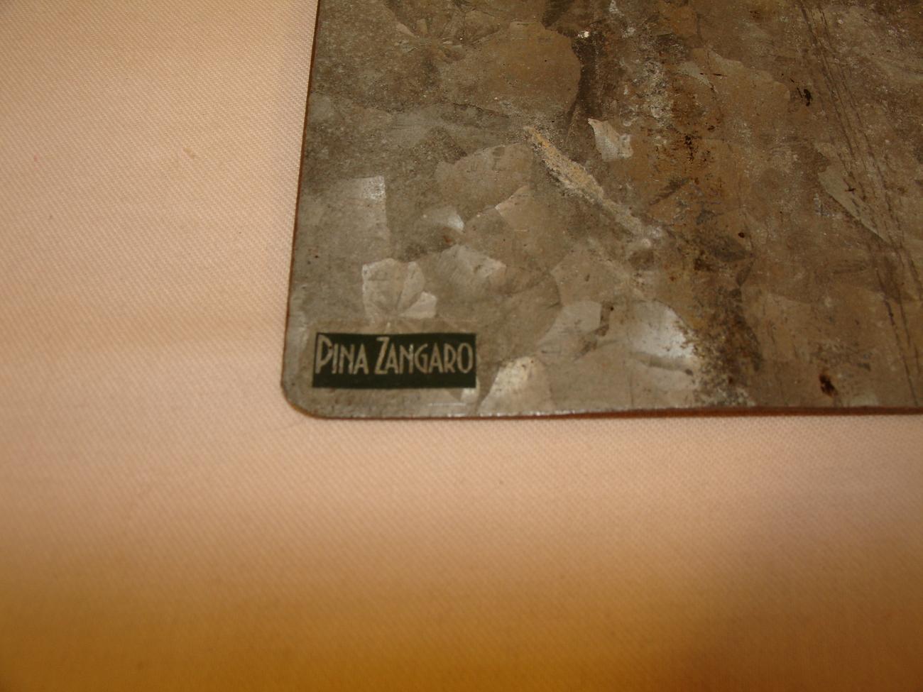 Pina Zangaro Corrugated Galvanized Steel Note Pad Holder