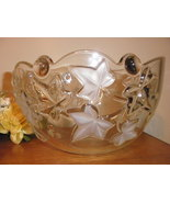 Crystal bowl with ivy leaf design, like new - $20.00