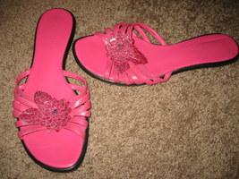liz claiborne pink sandals 9 - $9.99