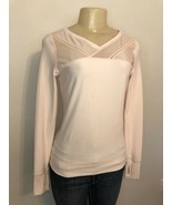 LULULEMON JUST BREATHE LS Mesh Base Top Yoga Shirt Parfait Pink Thumbholes - $29.69