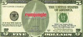 $5 off Cover Charge at RUMJUNGLE, Mandalay Bay Hotel Las Vegas, NV - $4.95