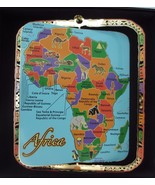 Africa Brass Ornament Countries Landmarks Map Animals Leaders - $18.95
