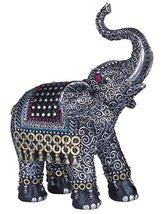 George S. Chen Imports SS-G-88051 Black Thai Elephant With Trunk Raised Collecti - $12.99