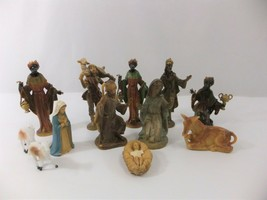 Christmas Nativity Scene Set Figures Polyresin Figurines Baby Jesus 3 Ki... - $24.00
