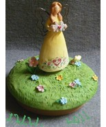 Yellow Russ Garden Heart Fairy Angel Jar Candle Topper  - $3.99