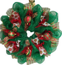 Christmas Ornament Handmade Deco Mesh Wreath - $89.99
