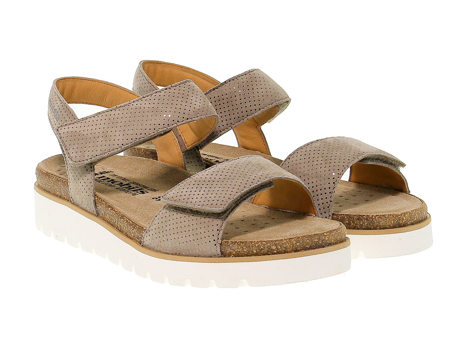 Sandalia plana MEPHISTO THELMA de nabuk cammello - Zapatos Mujer