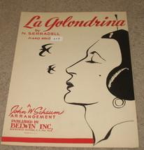 La Golondrina Sheet Music - 1952 - Piano Solo - $8.95