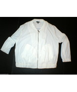 New Womens Express Off White Jacket Large L Pockets Zipper Nice School C... - $16.20