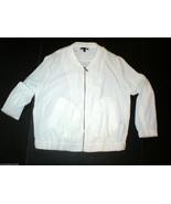 New Womens Express Off White Jacket Large L Pockets Zipper Nice School C... - $24.00