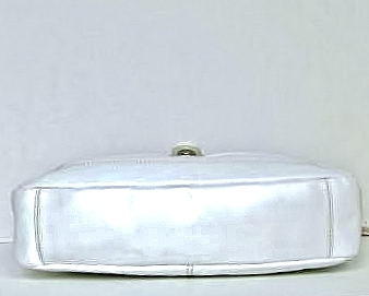 WILSONS White Leather Shoulder Bag Handbag Purse