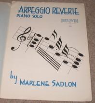 Arpeggio Reverie Piano solo Sheet Music -1955    - $8.75